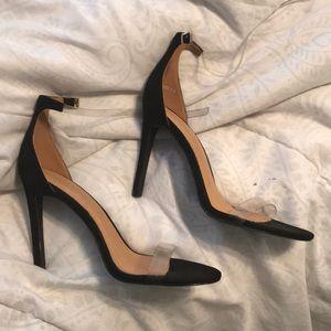 Black/ clear heels
